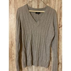 Gray Express Long Sleeve Sweater